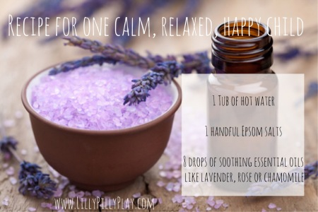 herbal lavender salt and essential oil